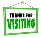 感谢您访问挂店签署客户答谢会 — 图库照片