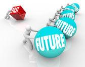 Future Vs Past Embrace Change Win Race Stuck Behind — Stock Photo
