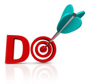 Do Arrow in 3D Word Take Action Go Forward — Stock Photo