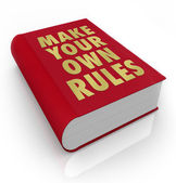 Make Your Own Rules Book Take Charge of LIfe — Stock Photo