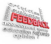 Feedback 3D Word Collage Evaluation Comment Review — Stock Photo