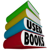 Used Books Stack Pile Selling Buying Old Textbooks Novels — Stock Photo