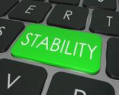 Stabilitet ordet dator tangentbord nyckel säkert säkert val — Stockfoto