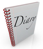 Diary Spiral Bound Journal Notebook Memoir — Stock Photo