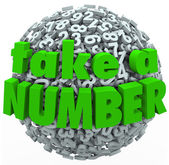 Take a Number Wait Your Turn Anticipating Wait in Line — Stock Photo