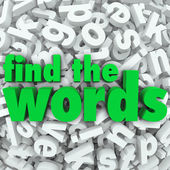Find the Words Wordsearch Puzzle Game Challenge — Stock Photo