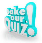 Take Our Quiz 3D Letters Words Assessment Test — Stock Photo