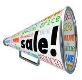 Sale Bullhorn Megaphone Advertising Special Price Event — Stock Photo
