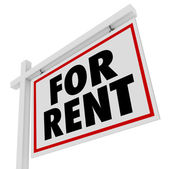 For Rent Real Estate Home Rental House Sign — Stock Photo