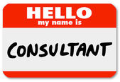 Hello My Name is Consultant Nametag Sticker Badge — Stock Photo