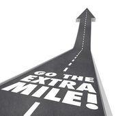 Go the Extra Mile Words Road Saying — Zdjęcie stockowe