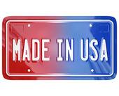 在美国的许可证的虚荣心板汽车作 — 图库照片