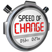 Speed of Change Stopwatch Timer Clock Time to Innovate — Stockfoto