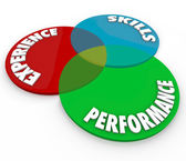 Experience Skills Performance Venn Diagram Employee Review — Foto Stock