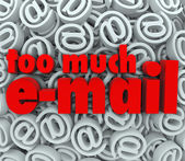 "Too Much Email Symbol ""at"" Sign Symbol Background Mail — Stock Photo"