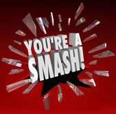 You're a Smash Hit Popular Big Success Feedback Praise — Zdjęcie stockowe
