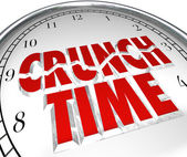 Crunch Time Clock Hurry Rush Deadline Final Moment — Stock Photo