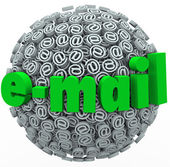 Email Word At Symbol Signs Electronic Mail Message — Stock Photo