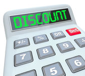 Discount Word Calculator Special Savings Clearance Sale — Stock Photo