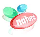 Natural Organic Supplements Vitamins Healthy Life Improvement — Stock Photo