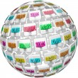 Resume Words Sphere Experience Education References — Stock Photo #28656555
