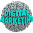 Digital Marketing Online Internet Campaign Web Outreach At Symbo — Lizenzfreies Foto