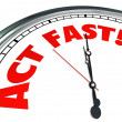 Act Now Clock Time Urgency Action Required Limited Offer — Foto Stock
