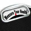 Measure Your Health Scale Weight Loss Healthy Checkup — Stock Photo