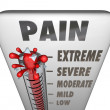 Max Pain Level Thermometer Painful Diagnosis Treatment — Stock Photo