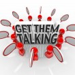 Stock Photo: Get Them Talking People Speech Bubbles Sharing Ideas