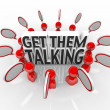 Get Them Talking People Speech Bubbles Sharing Ideas — Stock Photo
