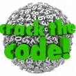 Stock Photo: Crack the Code Number Sphere Breaking Password Security