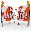 No Limits Unstoppable Determination Breaking Barricade — Stock Photo