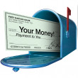 Your Money Check Payment in Mailbox — Stock Photo