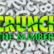 Stock Photo: Crunch Numbers Words Number Background Accounting Taxes