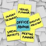 Office Administrator Job Duties Meeting Travel Planner Executive — Stock Photo