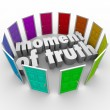 Moment of Truth Choose Best Path Different Options — Stock Photo