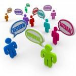 Referral Speech Bubble People New Customers Network Marketing — Stock Photo #28656929