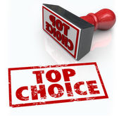 Top Choice Best Product Stamp Review Feedback Rating — Stock Photo