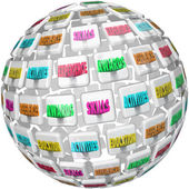 Resume Words Sphere Experience Education References — Stock Photo