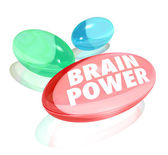 Brain Power Capsules Alternative Supplements Vitamins Stimulate — Stock Photo