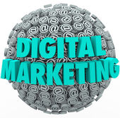 Digital Marketing Online Internet Campaign Web Outreach At Symbo — Stock Photo