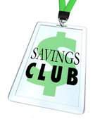Savings Club Badge ID Card Special Discount Save More — Stock Photo