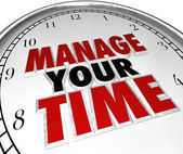 Manage Your Time Words Clock Management Efficiency — Stock Photo