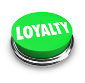 Loyalty Word Green Button Relationship Fidelity — Stock Photo