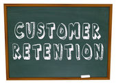 Customer Retention Words Dartboard Tips Advice Keeping Business — Stock Photo