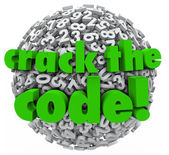 Crack the Code Number Sphere Breaking Password Security — Stock Photo