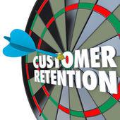 Customer Retention Dartboard Perfect Dart Hit — Stock Photo