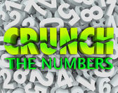 Crunch the Numbers Words Number Background Accounting Taxes — Stock Photo