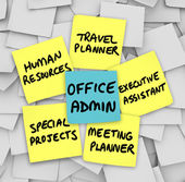Office Administrator Job Duties Meeting Travel Planner Executive — Stock Photo